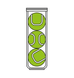 Color silhouette cartoon green tennis balls vector