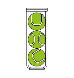 color silhouette cartoon green tennis balls vector image