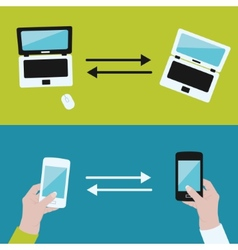 communication between devices vector image
