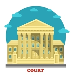 Court or tribunal courthouse entrance exterior vector