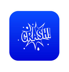 crash explosion icon digital blue vector image