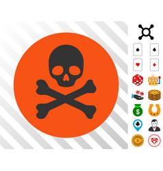 death icon with bonus vector image