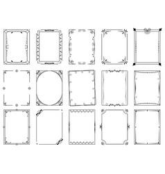 Decorative ornamental frame and filigree border vector