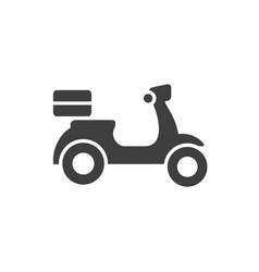 delivery motorcycle icon scooter bike silhouette vector image
