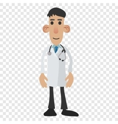Doctor cartoon icon vector image