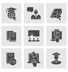 e-learning distance education icons vector image
