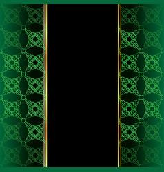 elegant wallpaper with golden fine decoration vector image