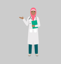 female character of orthopaedist vector image