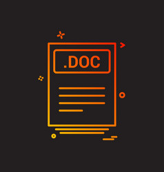 file files doc icon design vector image