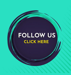 follow us banner template vector image