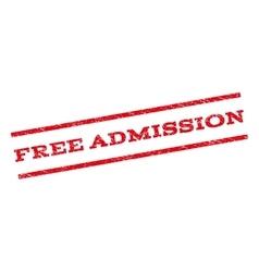Free Admission Watermark Stamp vector