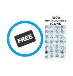 Free Card Rounded Icon with 1000 Bonus Icons vector