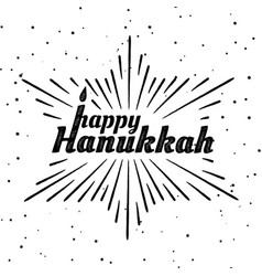 happy hanukkah font composition vector image