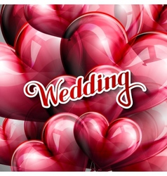 Holiday of Wedding label with vector