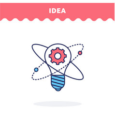 idea light bulb icon vector image