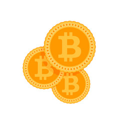 investments bitcoin and block chain vector image