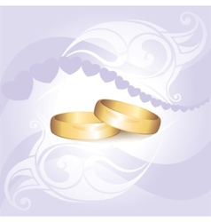 invitation with rings vector image