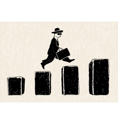 Jumping businessman vector image