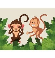 Jungle monkey cartoon vector