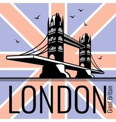 London tower bridge poster vector