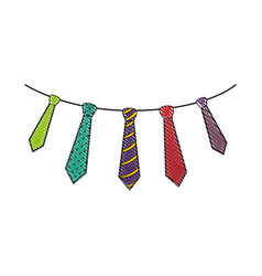 Male ties set vector