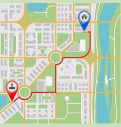 map route abstract city navigation vector image