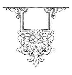 modern strap-work tablet was suitable for vector image