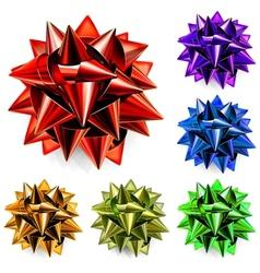 Multicolored bows of ribbon vector image