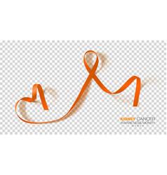 National kidney cancer awareness month orange vector