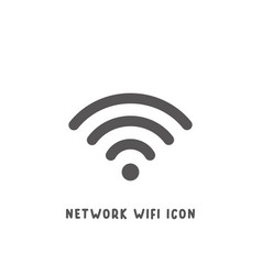 network wifi icon simple flat style vector image