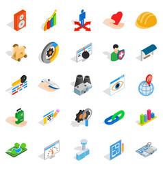 online shopping icons set isometric style vector image