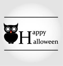 Owl Happy Halloween vector