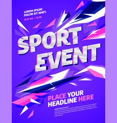 Poster template design for sport event sport vector