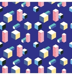 Postmodern 80s style seamless pattern vector