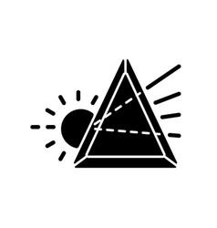 Prisma black glyph icon vector