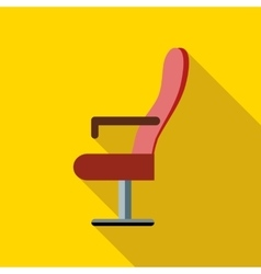 Red cinema armchair icon flat style vector