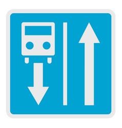 road for route transport icon flat style vector image