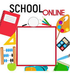 school online concept background square template vector image