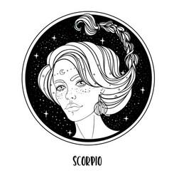 Scorpio astrological sign vector