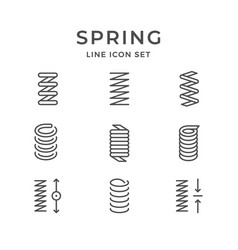 set line icons of spring vector image