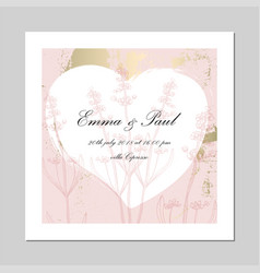 set trendy romantic elegant pastel blue gold vector image