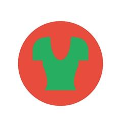 Shirt top icon vector image