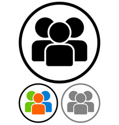 simple characters figures group graphics vector image