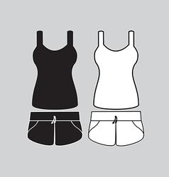 Singlet and shorts vector