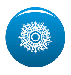 sunny plant icon blue vector image