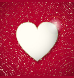 the valentine day frame on a heart patern vector image