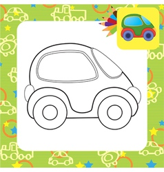 Toy car for coloring vector