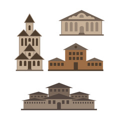 various buildings vector image