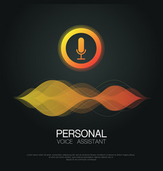 voice assistant background vector image
