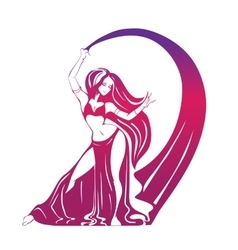 Dancing woman in expressive pose flat silhouette vector